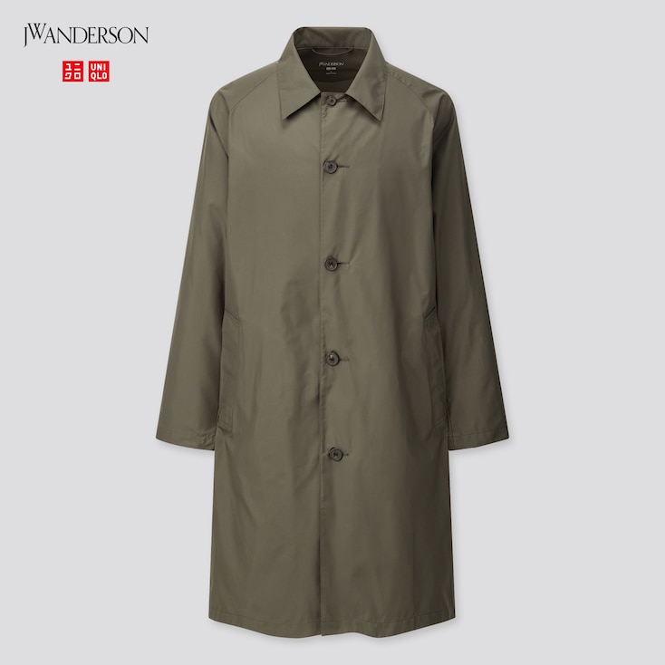 Men Pocketable Single Breasted Coat (Jw Anderson), Dark Green, Large