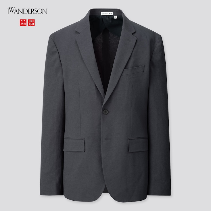 Men Tailored Jacket (Jw Anderson), Navy, Large