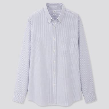 Men Slim Fit Striped Oxford Shirt (Button-Down Collar)