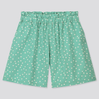 Girls Easy Shorts, Green, Medium