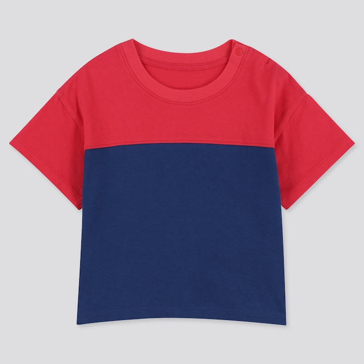 Toddler Crew Neck Short-Sleeve T-Shirt, Red, Large