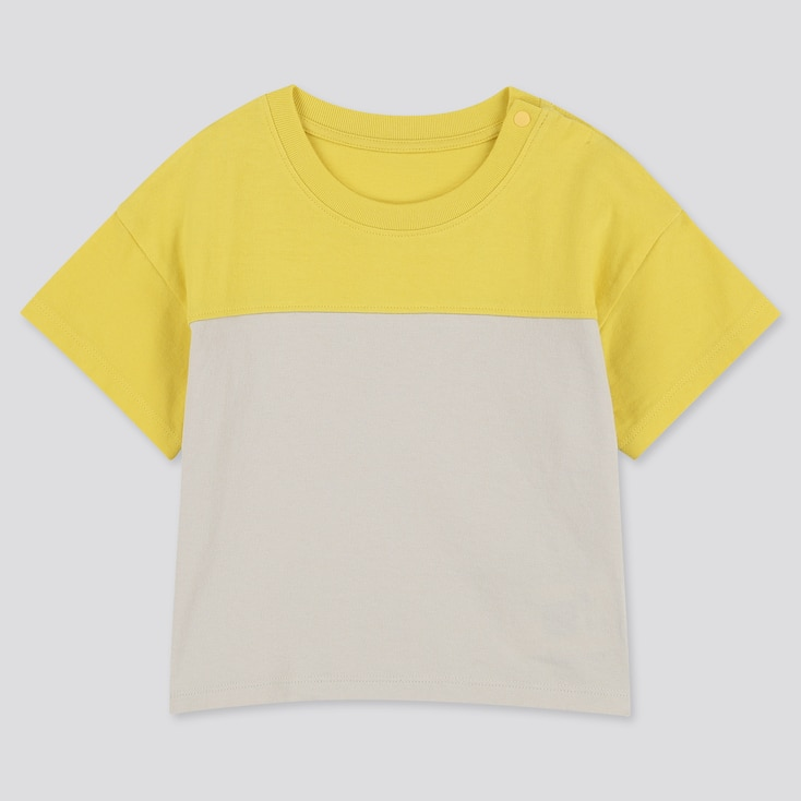 Toddler Crew Neck Short-Sleeve T-Shirt, Yellow, Large