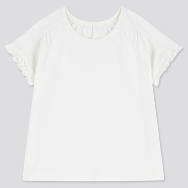 Toddler Crew Neck Short-Sleeve T-Shirt, White, Medium