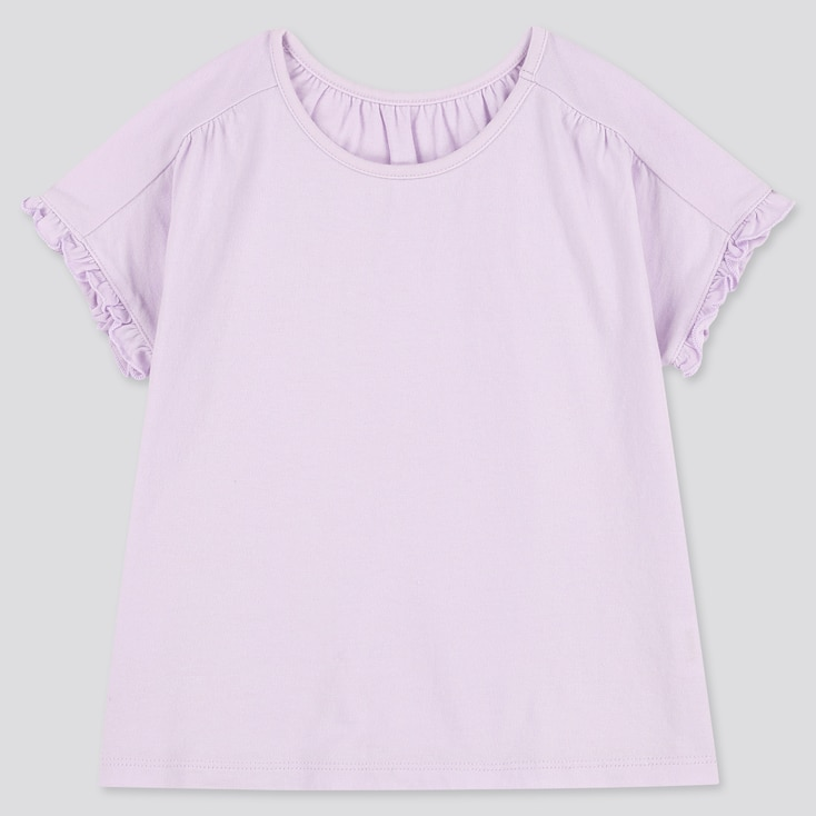 Toddler Crew Neck Short-Sleeve T-Shirt, Light Purple, Large