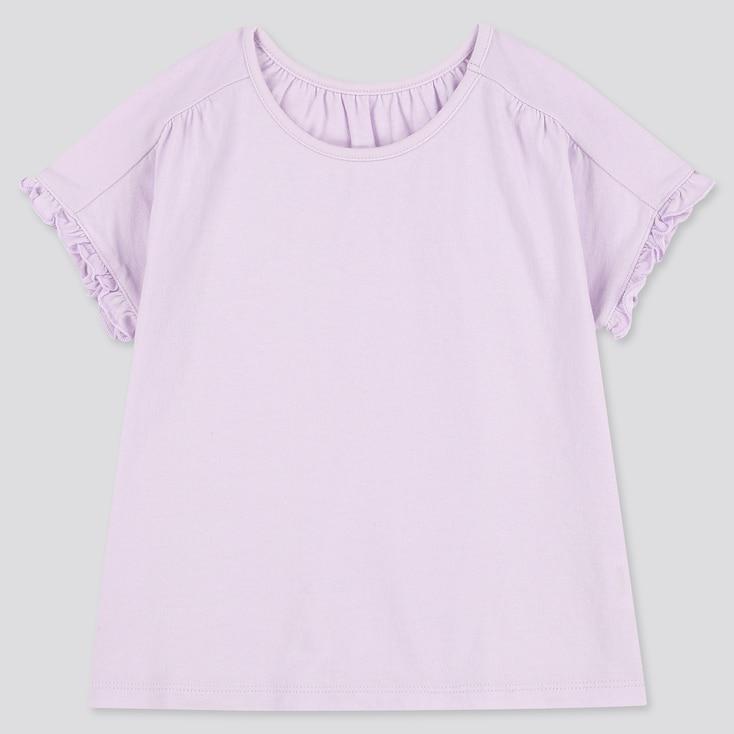 Toddler Crew Neck Short-Sleeve T-Shirt, Light Purple, Large
