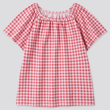 Toddler Square Neck Short-Sleeve T-Shirt, Red, Medium