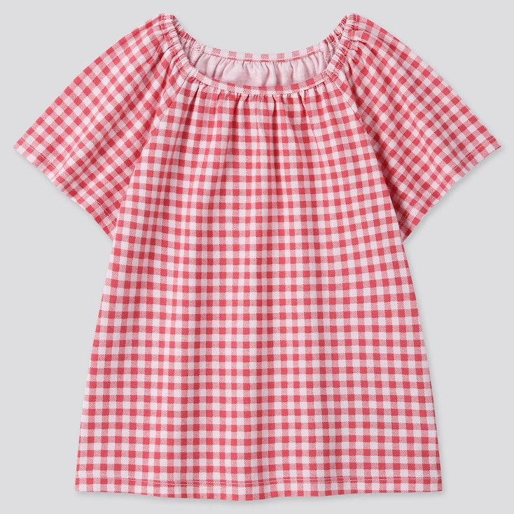 Toddler Square Neck Short-Sleeve T-Shirt, Red, Large