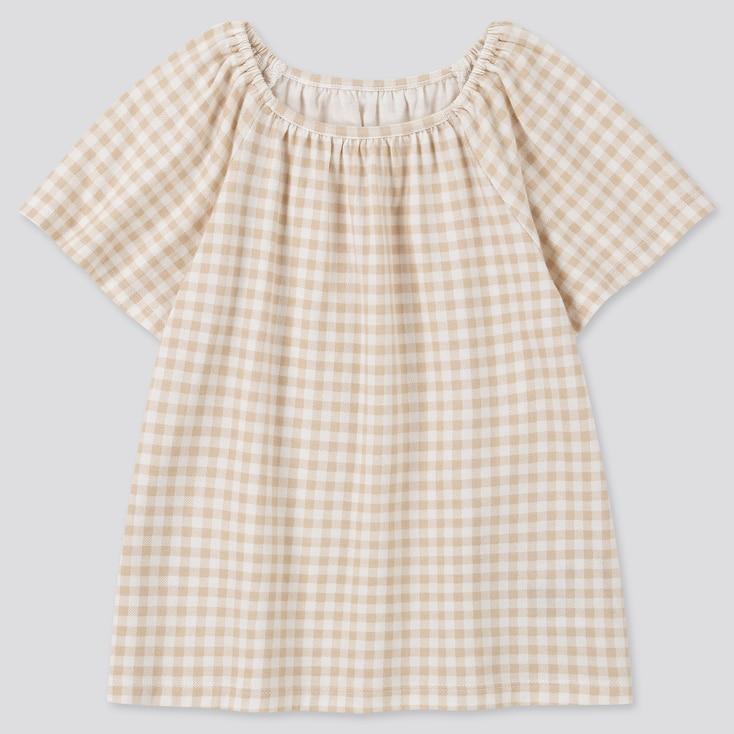 Toddler Square Neck Short-Sleeve T-Shirt, Natural, Large