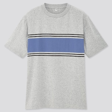 Men Striped Short-Sleeve T-Shirt (Online Exclusive), Gray, Medium