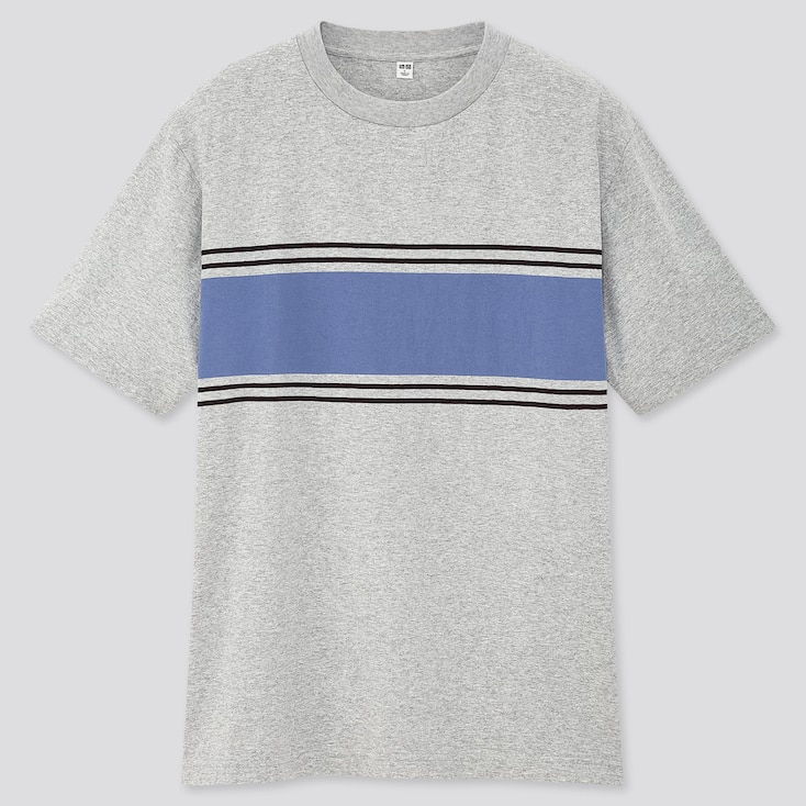 Men Striped Short-Sleeve T-Shirt (Online Exclusive), Gray, Large