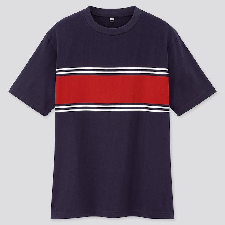 Men Striped Short-Sleeve T-Shirt (Online Exclusive), Navy, Large