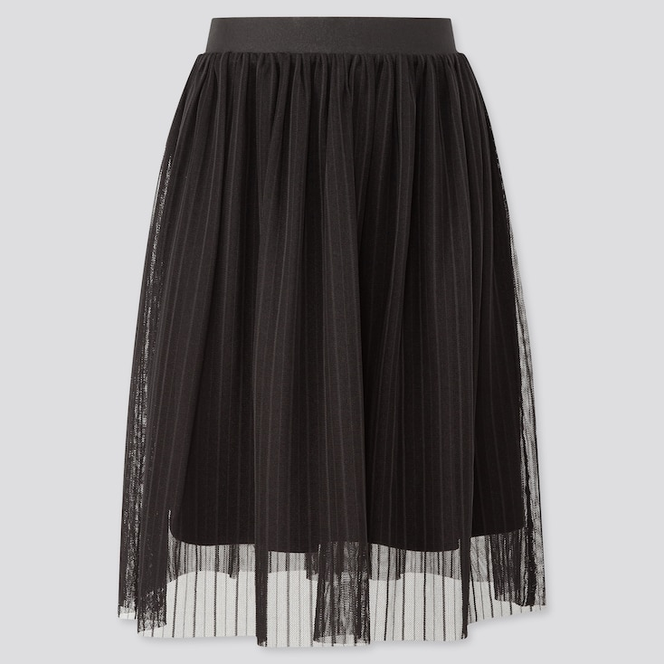 Girls Tulle Skirt, Black, Large