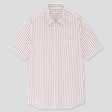 Men Extra Fine Cotton Broadcloth Regular Fit Short Sleeved Shirt (Regular Collar)