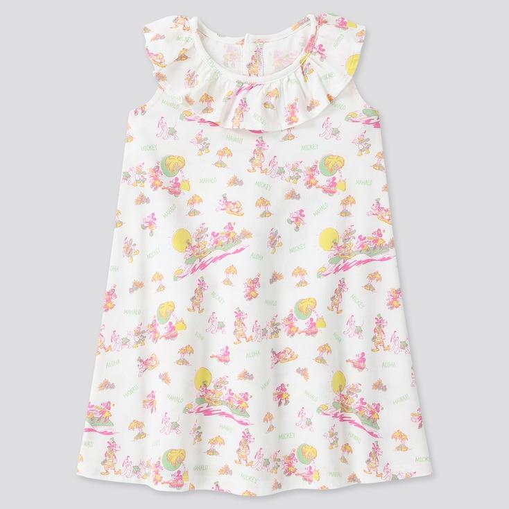 Toddler Mickey Aloha Short-Sleeve Dress, White, Large