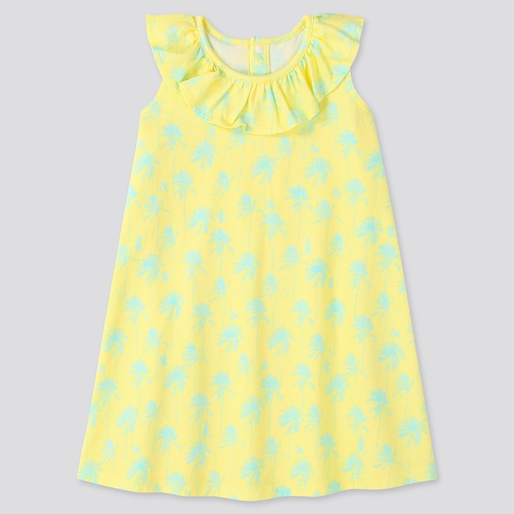 Toddler Mickey Aloha Short-Sleeve Dress, Yellow, Large