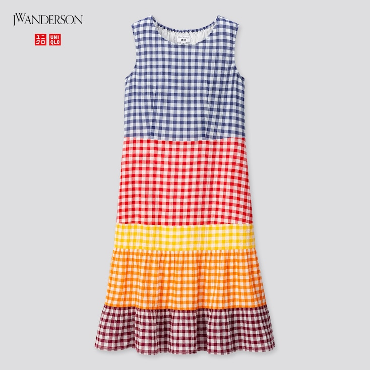 Girls Sleeveless Dress (Jw Anderson), Blue, Large