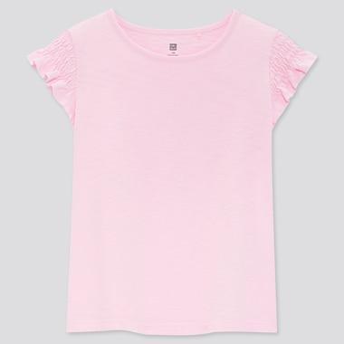 T-shirt Flammé et Froncé Manches Courtes Fille