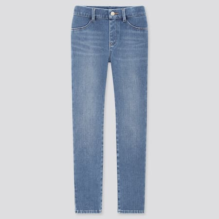 Girls Ultra Stretch Denim Leggings Trousers