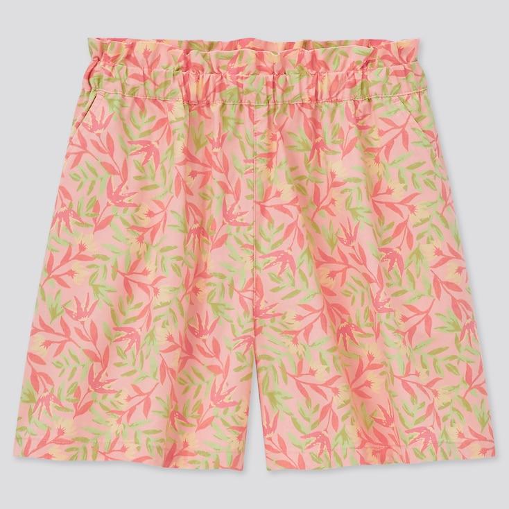 Girls Easy Shorts, Light Orange, Large