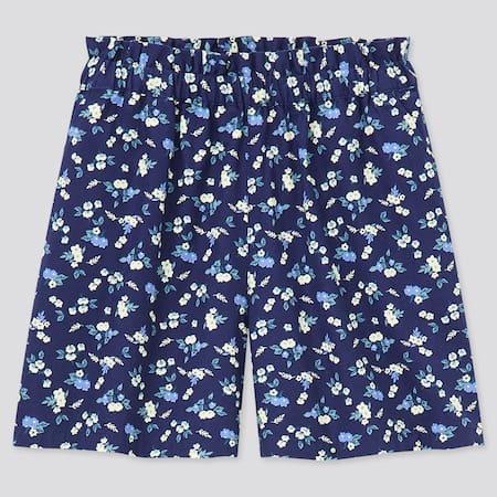 Girls Easy Flower Print Shorts