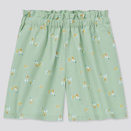 Girls Easy Bird Print Shorts