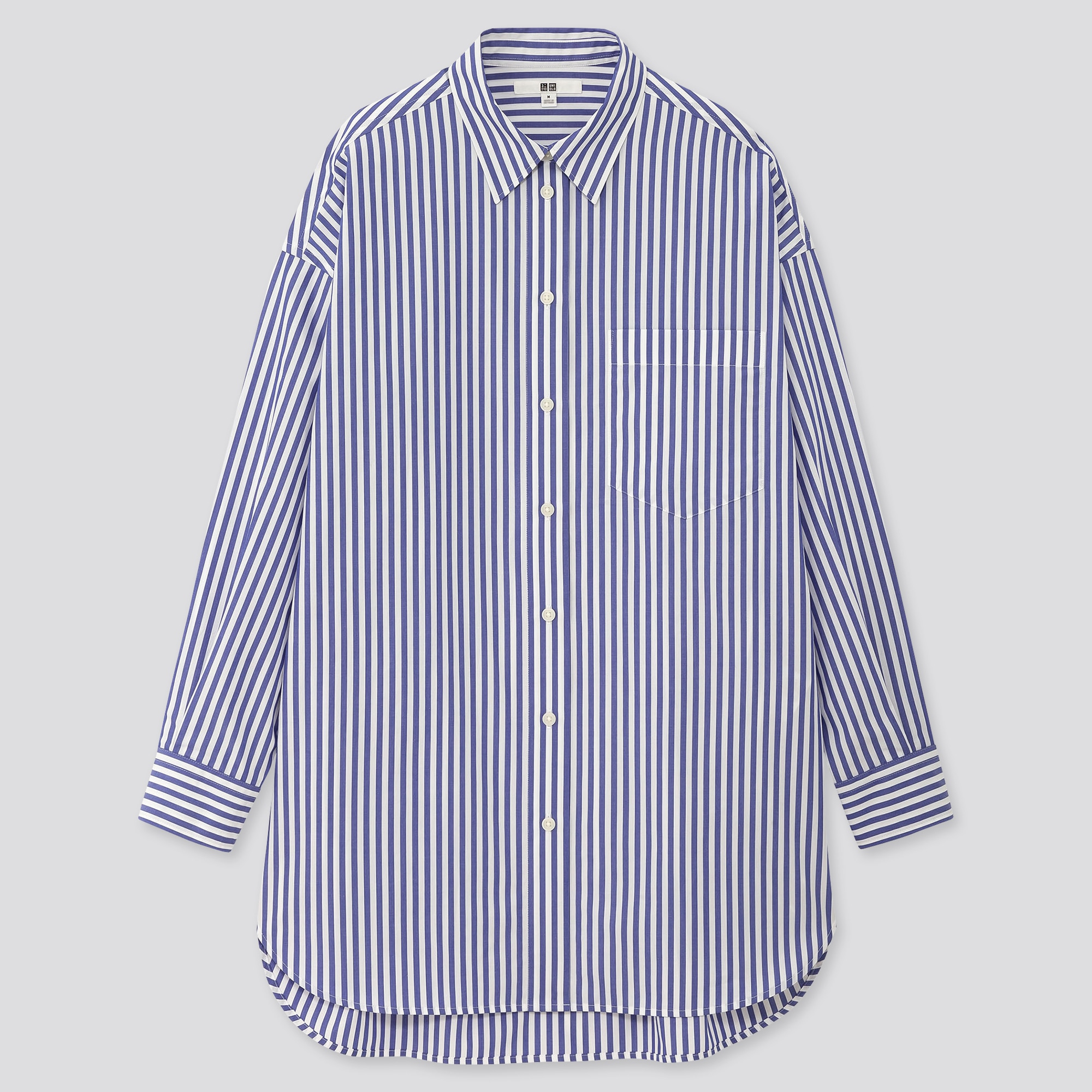 Woman Within NEW PINK Stripe Long Sleeve Pure Cotton Blouse SIZES UK 26 to 44