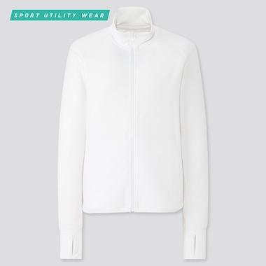 Women AIRism UV Protection Mesh Long Sleeved Zipped Jacket