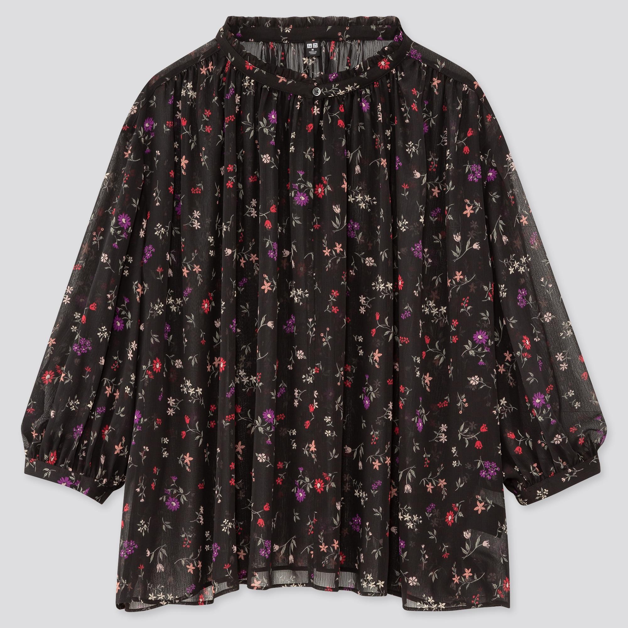 Women Joy Of Print Chiffon 3/4 Sleeved Blouse