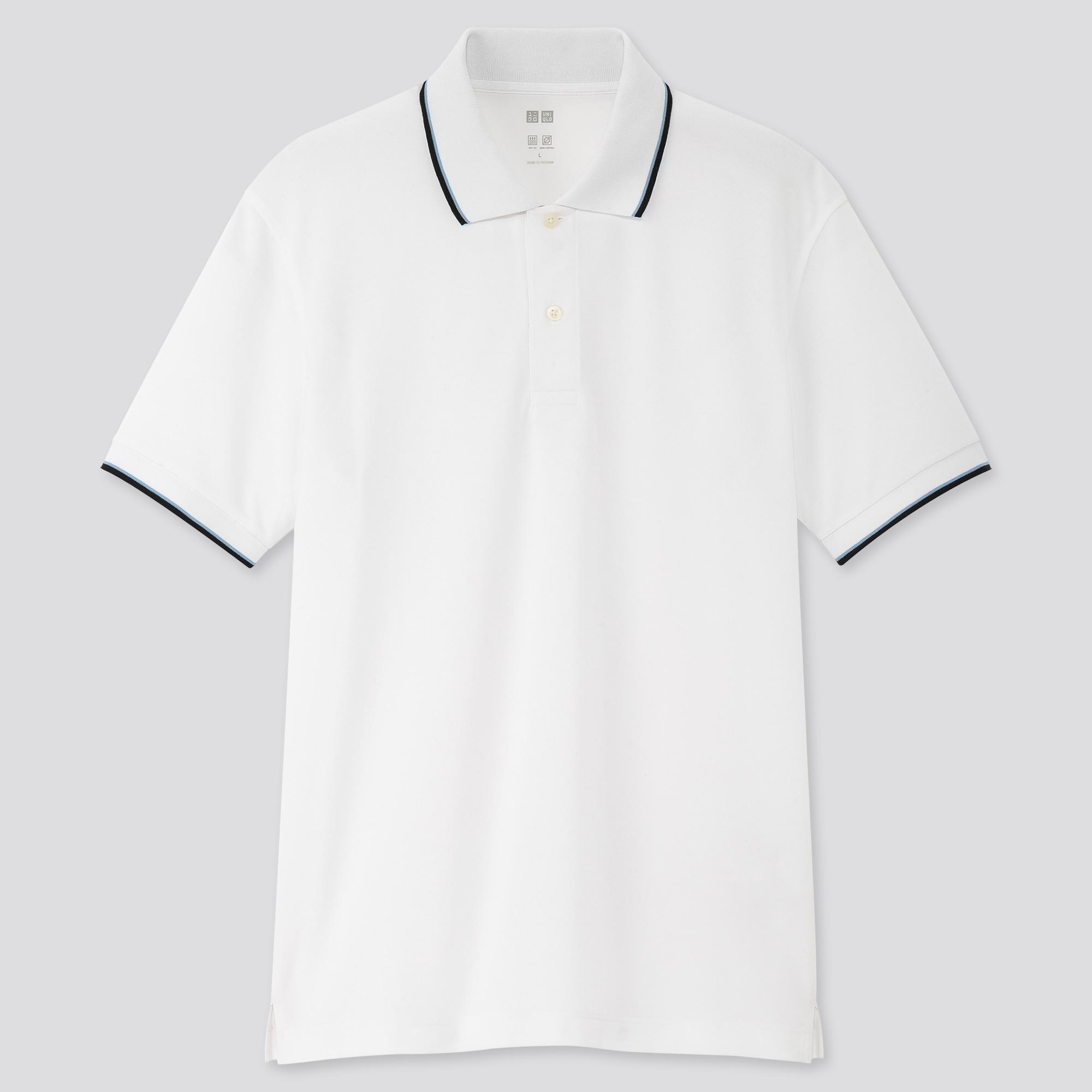 Uniqlo men dry-ex pique short-sleeve polo shirt