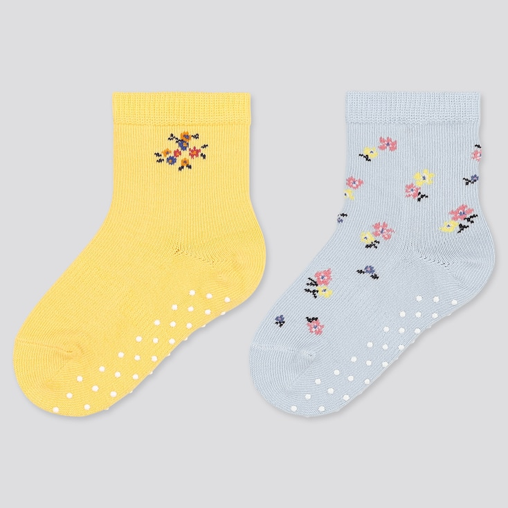Baby Socks (2 Pairs), Yellow, Large