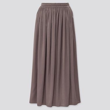 Women Drape Gathered Maxi Skirt