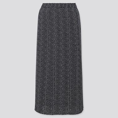 Falda Midi Chifón Plisada Mujer