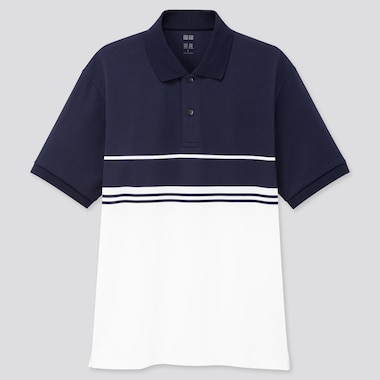 Men Dry-Ex Pique Short-Sleeve Polo Shirt, Navy, Medium