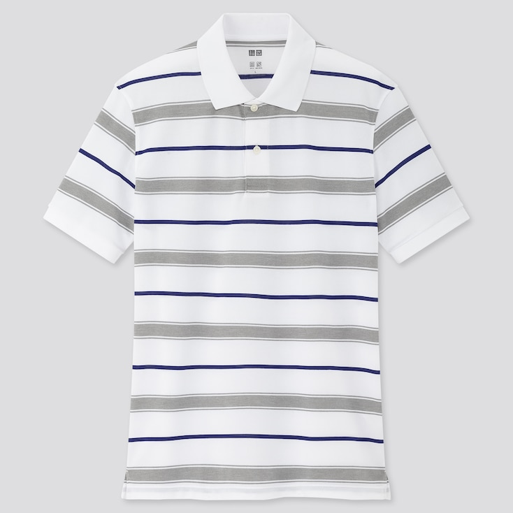 Men Dry-Ex Pique Short-Sleeve Polo Shirt (Online Exclusive), White, Large