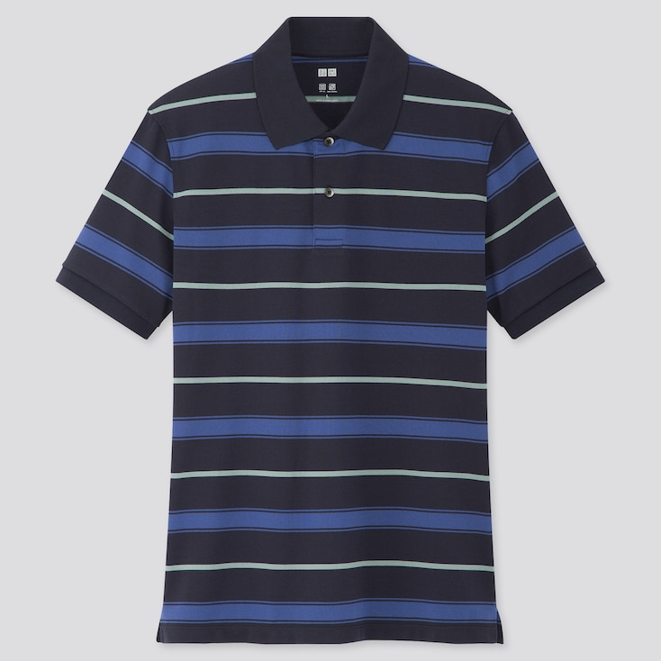 Men Dry-Ex Pique Short-Sleeve Polo Shirt (Online Exclusive), Navy, Large
