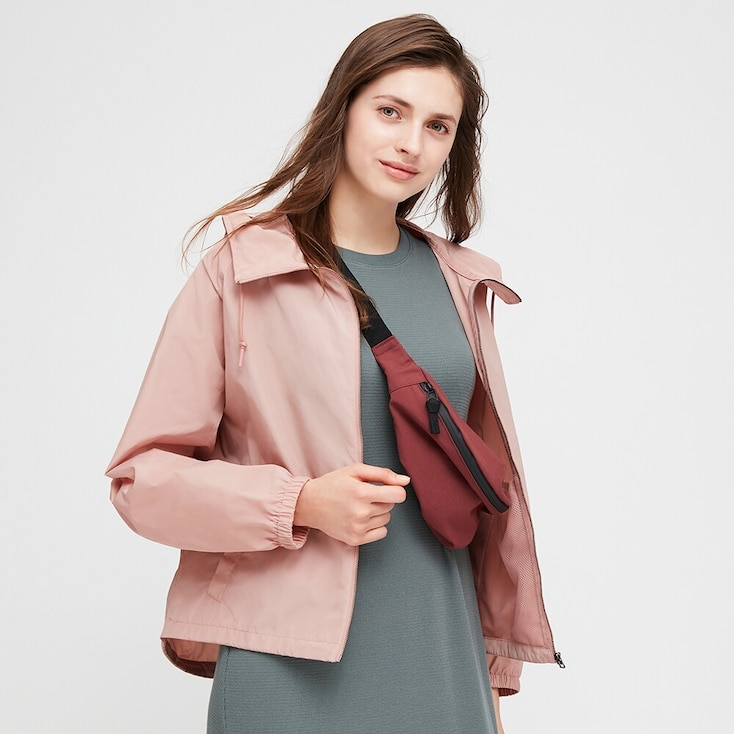 Women Oversized Parka, Pink, Large