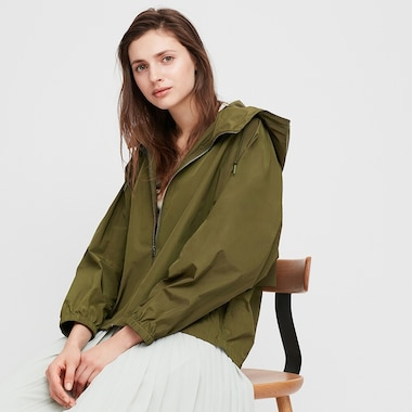 Women Oversized Parka, Olive, Medium