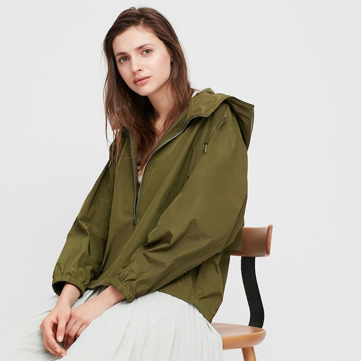 Women Oversized Parka, Olive, Large
