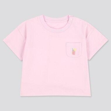 Toddler Crew Neck Short-Sleeve T-Shirt, Pink, Medium