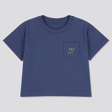 Toddler Crew Neck Short-Sleeve T-Shirt, Blue, Medium