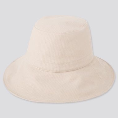 Women Uv Protection Adjustable Wide Brim Hat, Natural, Medium