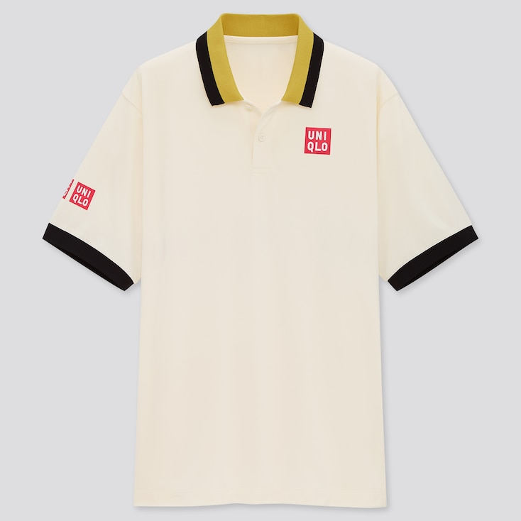 Men Dry-Ex Polo Shirt (Kei Nishikori 20fra), Off White, Large
