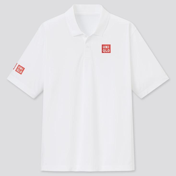 Men Dry-Ex Short-Sleeve Polo Shirt (Kn), White, Large