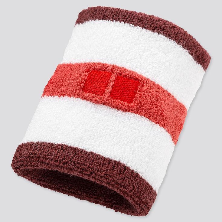 Tennis Wristband (Kei Nishikori), White, Large