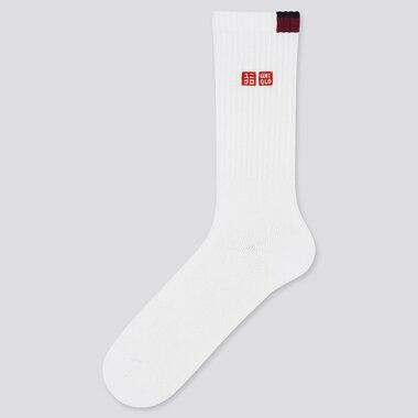 Men Tennis Socks (Roger Federer 20aus), White, Medium