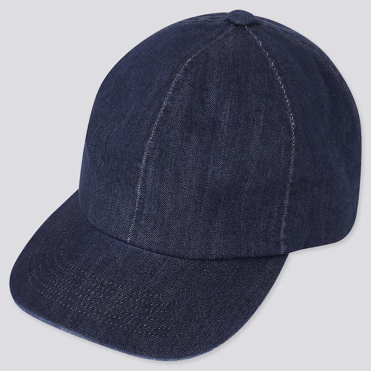 Uv Protection Denim Cap, Blue, Large
