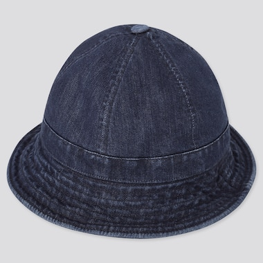 Uv Protection Denim Hat, Blue, Medium