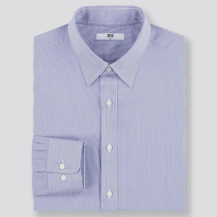 Men Easy Care Regular Fit Striped Shirt (Regular Collar) by Uniqlo