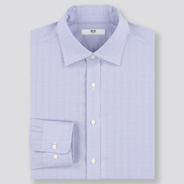 Men Easy Care Regular Fit Checked Shirt (Regular Collar)