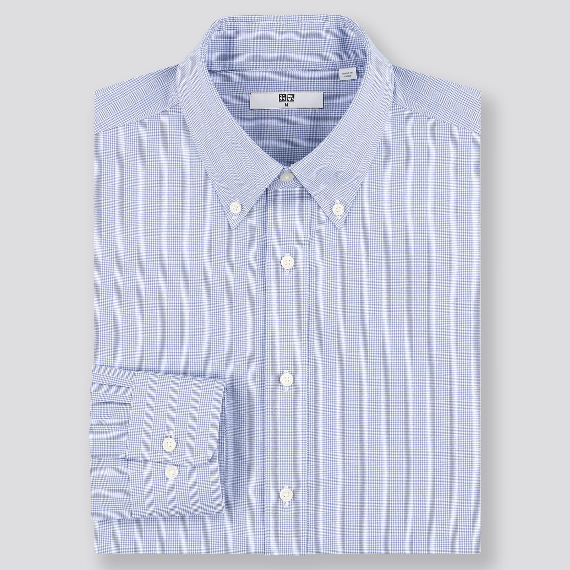 New Mens Regular Fit Long Sleeve One Pocket Oxford Dress Shirt Light Gray